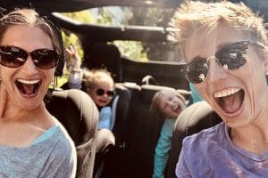 jen keene-crouse and family in car