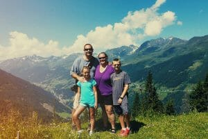 Heidi Wagoner and family in mountains
