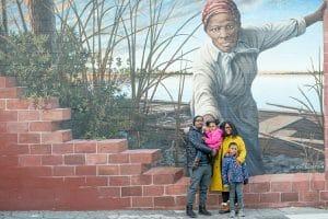 Burton Family at Harriet Tubman Mural