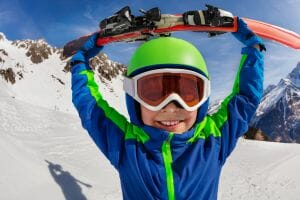 Skiing with kids Covid