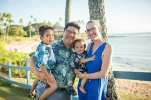 marcie cheung and family at beach