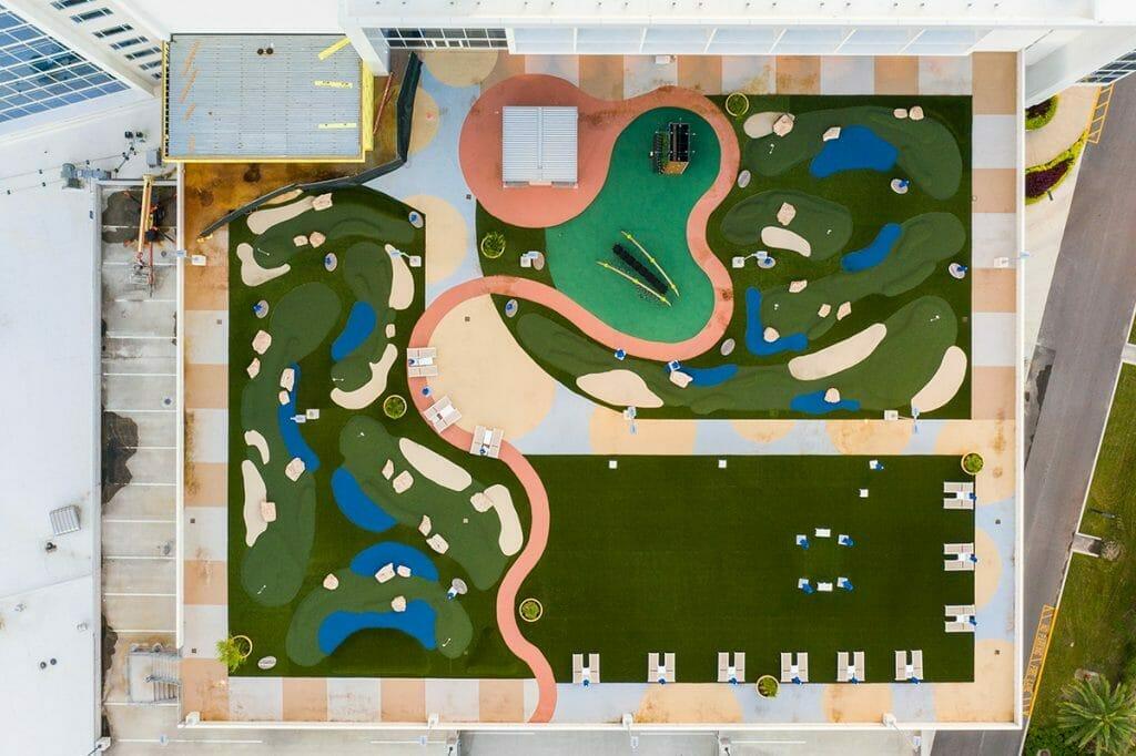 Aerial view of the JW Marriott Orlando Bonnet Creek Resort & Spa