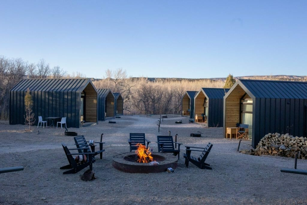 Modern cabins at Yonder Escalante