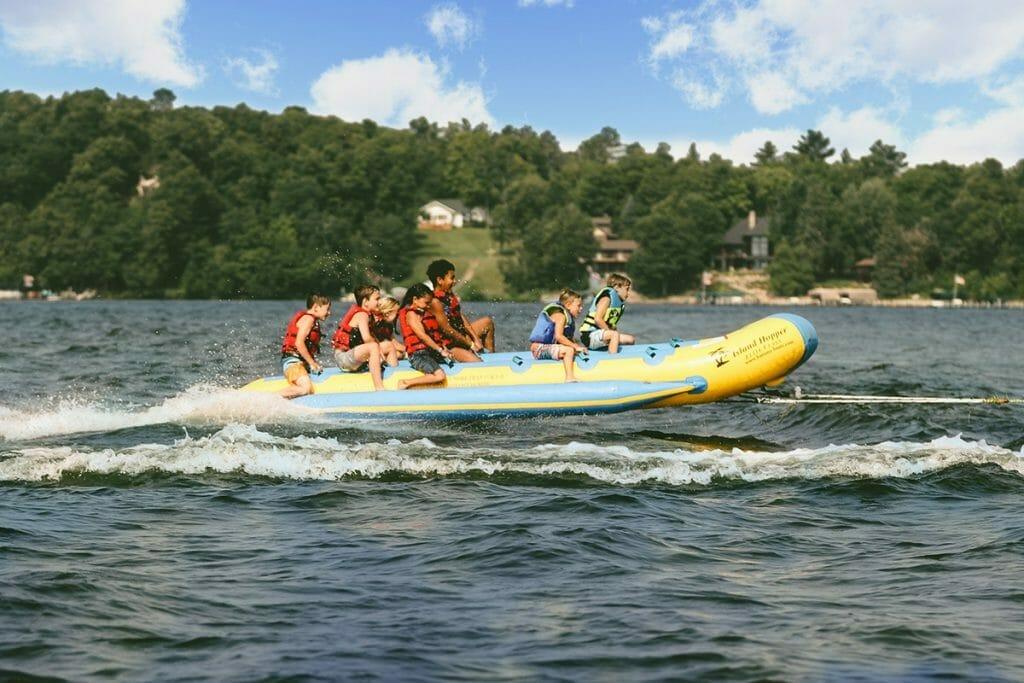 Grand View Lodge banana boat