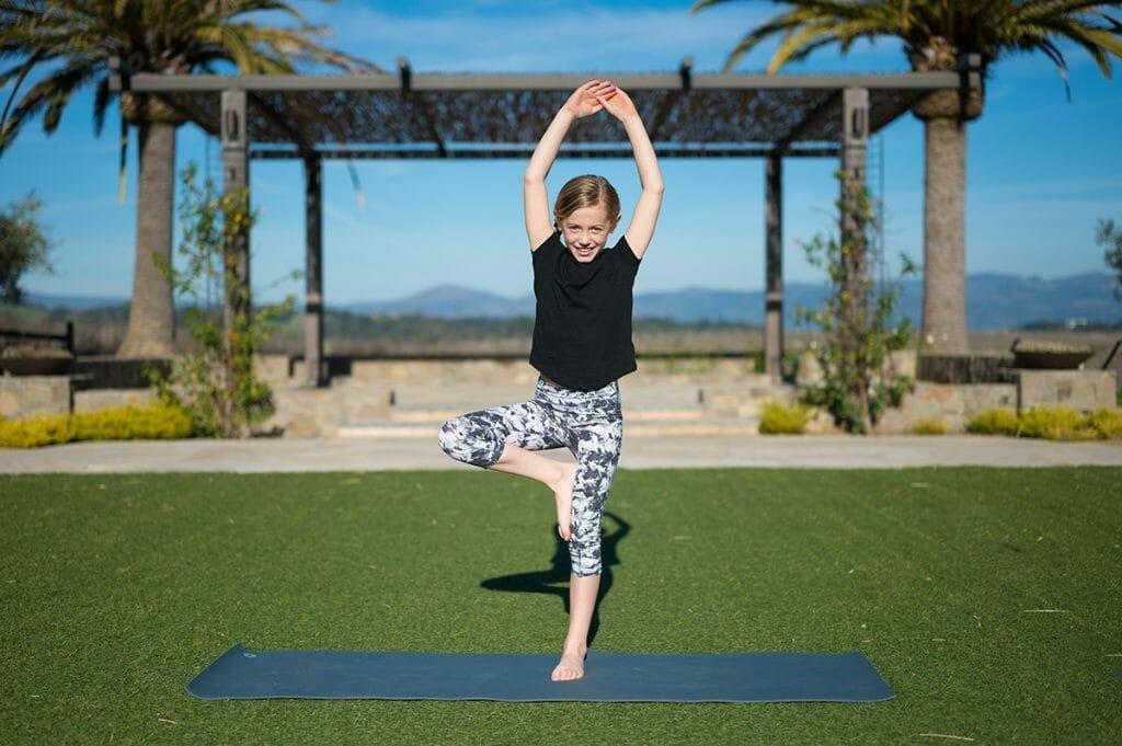 Kids Yoga at Carneros Resort and Spa