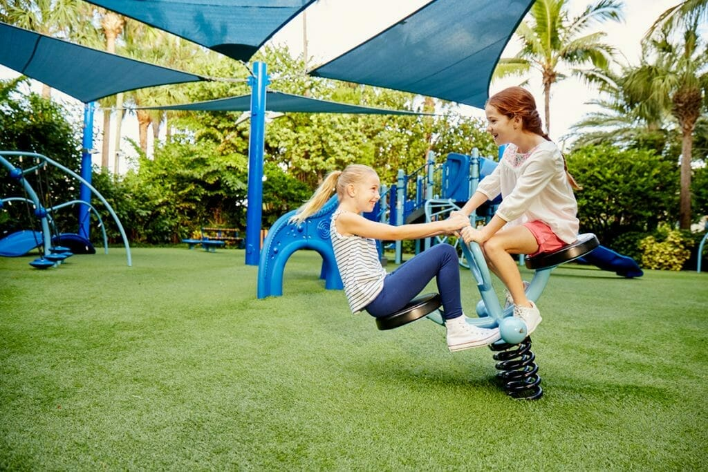 The kids' playground at the Breakers in Palm Beach