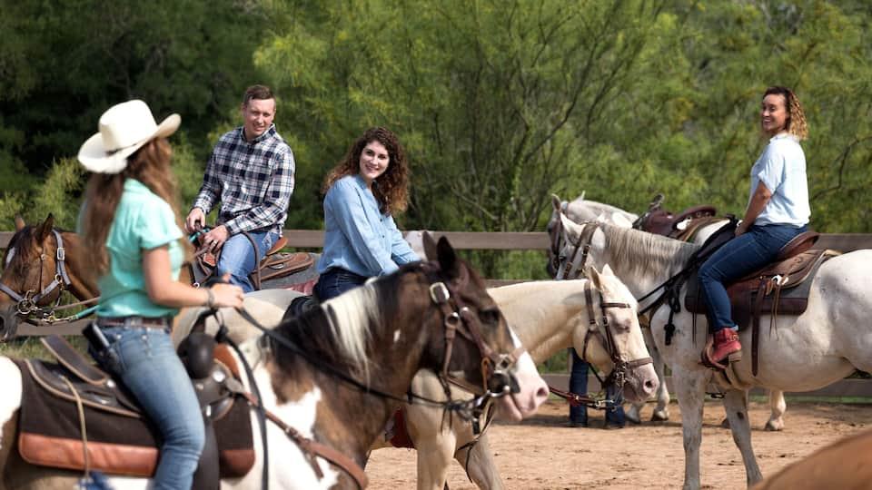 Riding horses at Hyatt Regency Lost Pines